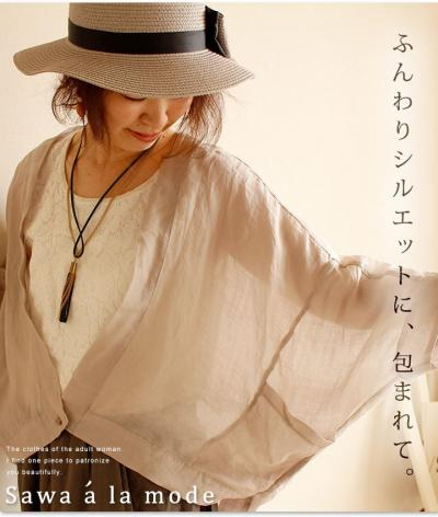 シンプルに透ける薄手カーディガン【7月5日22時販売新作】 mode-0536