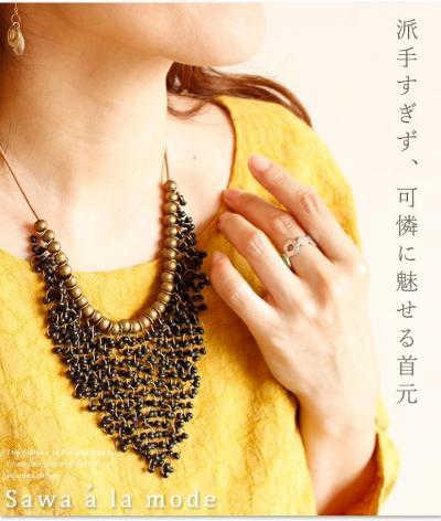 連なる美しさ魅せるネックレス【8月25日22時販売新作】mode-0957